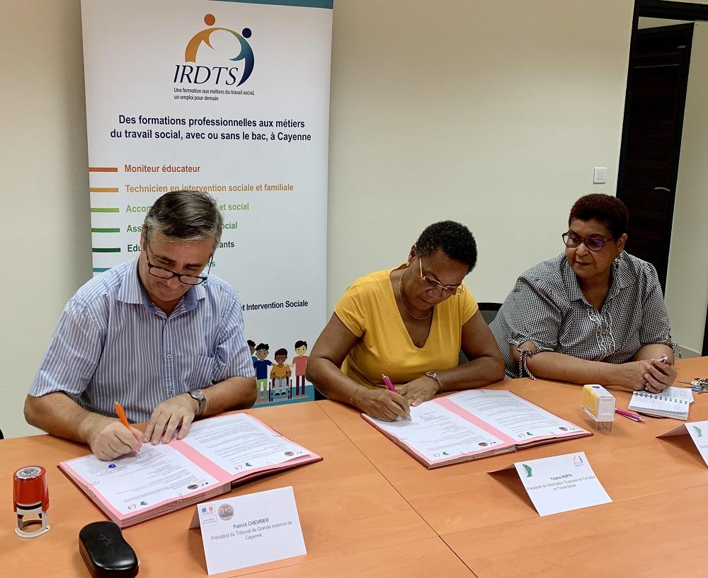 Partenariat entre le TGI et l'IRDTS